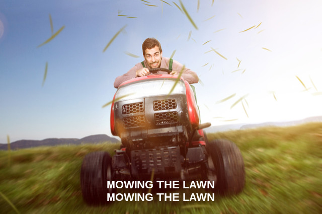 Lawn mowers in popular culture image by Lassedesignen (via Shutterstock).