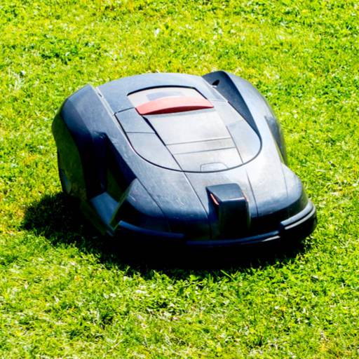 Robotic lawnmowers image by Dario Lo Presti (via Shutterstock).