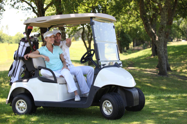 Golf Buggy image by Phovoir (via Shutterstock).