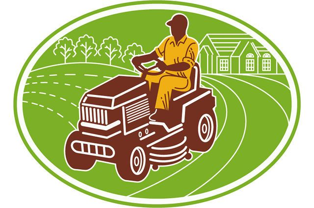 Ride-On Mower safety image by Patrimonio Designs Ltd (via Shutterstock).